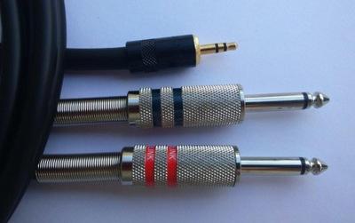 SHELLER  stereo mini Jack 3.5S/2xJack 6.3mono 0.5m