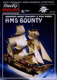 MM 6/2001 Okręt żaglowy z XVIII wieku HMS BOUNTY