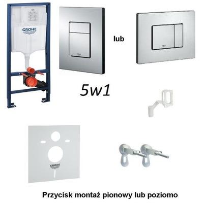Montážny rám pre závesné WC - GROHE 5 v 1 korčule CHROM MAT 39449000