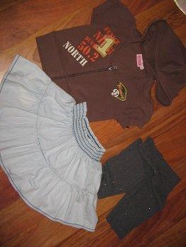 spódnica  cubus legginsy i bluza wenice roz 92-98