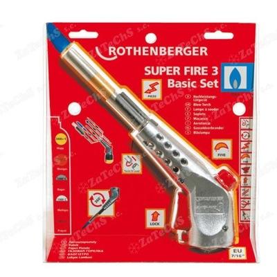 SUPER FIRE 3 Základné nastavenie Rothenberger 35436