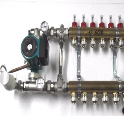 Dávkovač pre podłogówki 10 čerpadla rotametry.600