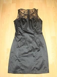 sukienka czarna z koronką- mini