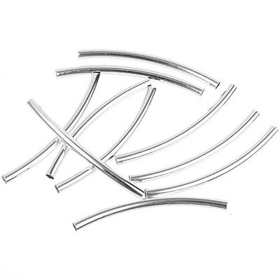 Прокладки трубочки металлические 30 ЛУКИ K .серебро 6шт