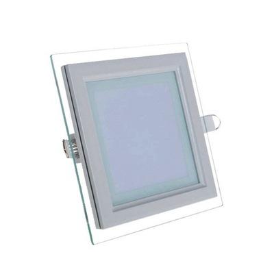 Plafon sufitowy LED kwadrat szkło FIN 6W ciepły