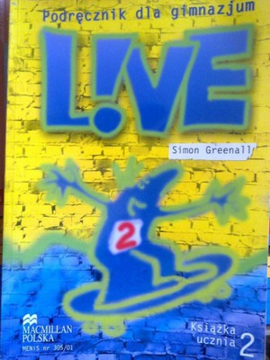LIVE 2  podręcznik + ćwiczenia. Wyprzedaż !!!!