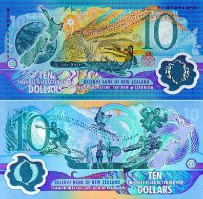 ~ Новая Зеландия $10 ГИПРОМЕЛЛОЗА ??? тысячи КРАСИВЫЙ логотип UNC