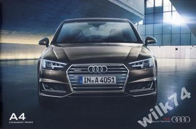 Nowe Audi A4 prospekt 2015 przedpremierowy