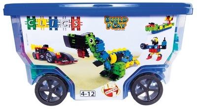 Klik-klak stavebnica pre deti - CLICS PL CB411 Belgicko Rollerbox 15w1 Bloky NOVINKA