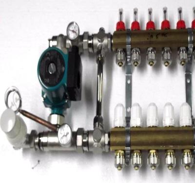 : Vpredu na podłogówki 9 čerpadla ventily .600
