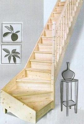 деревянная лестница на чердак  DEGRIS