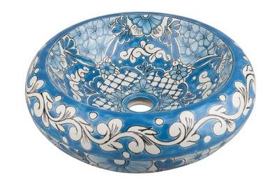 Umývadlo Lorena - umývadlo na umývadlo v modrej farbe