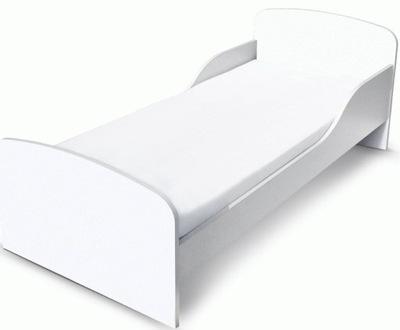 Detská postieľka Bielej farbe s matrac 140x70 Vady