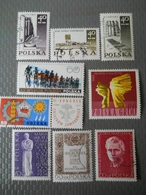 Polska - zestaw - Fi.1609-12,1622,1629-32 kasowane