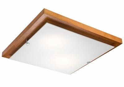 MODERNÉ STROPNÉ svietidlo DREVENÉ CALVADOS 36 cm ŠTVORCOVÝCH