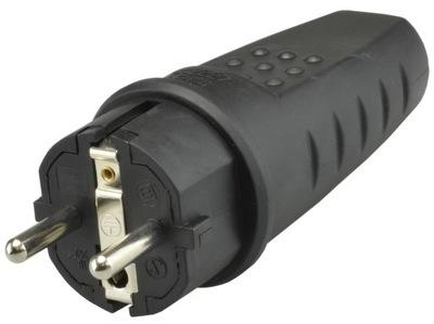 вилка резиновая тока герметичный 230 16A IP44