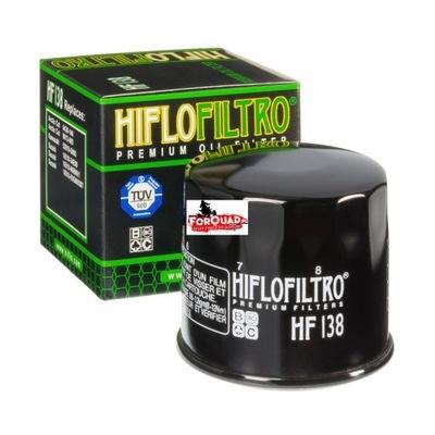 Hiflofiltro olejový filter HF 138 Suzuki KINGQUAD 750