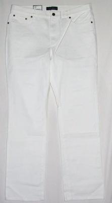 RALPH LAUREN WHITE CLASSIC STRAIGH JEANS ROZ-12/31