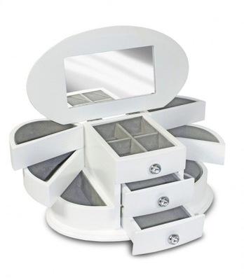 Organizér, kufrík, skrinka - SZKATUŁKA_kasetka biała 84992