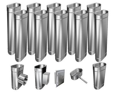 Kotol - 1mm CHIMNEY INSERT 12m 140x230 Tepelne odolný HIT
