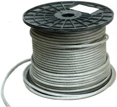 50 m lano, Oceľové Lano PVC 3mm CERTIFIKÁT FV - VEĽKOOBCHOD