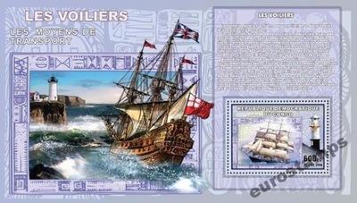 ПАРУСНИКИ корабли, маяки 5 Congo DR bl. CDR0712e