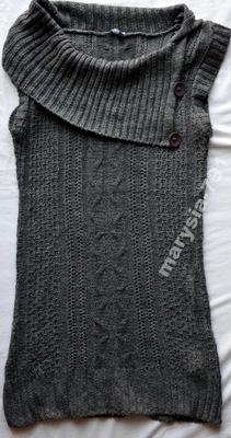 E-VIE dzianina swetrowa z kominem oversize-38/40