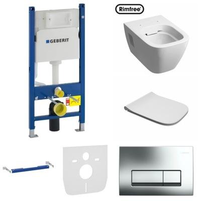 Montážny rám pre závesné WC - Rámček záchodovej misy Geberit MODO SLIM DELTA51 mat