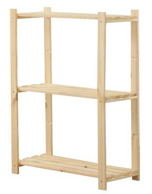 Regał drewniany RA-3-65 regały 3 półki na książki