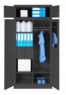 шкаф МЕТАЛЛИЧЕСКАЯ охраны труда СОЦИАЛЬНАЯ шкаф для одежды  НОВАК