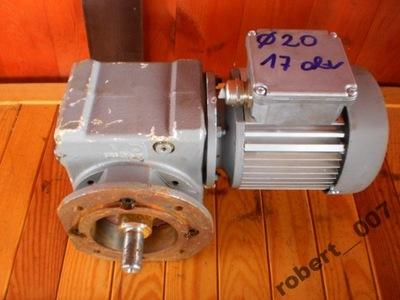 silnik elektryczny 0,4 kw motoreduktor 17 obr