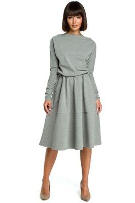 33996688e9 Sukienka asymetryczny dół szara Gina Tricot r M 38 - 7204668060 ...
