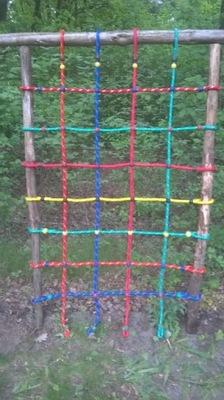 Siatka liny do wspinaczki plac zabaw 1,25 x 2 m
