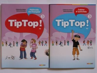 Tip Top 3 A2 Podręcznik+CD+Ćwiczenia NOWE Francais