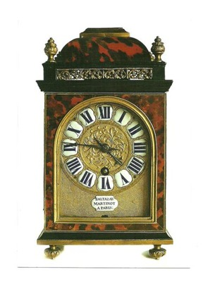 Открытка - Старый часы кухонный / B .Martinot, 17w.