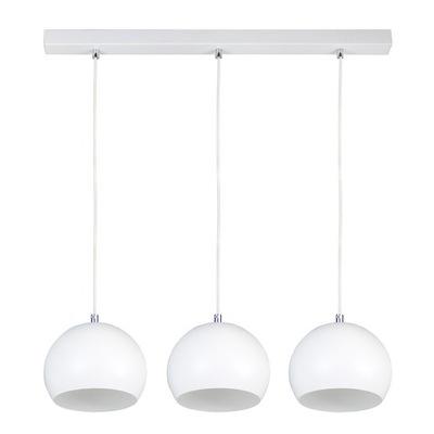 Svietidlá - Závesné svietidlá - Nowoczesna lampa wisząca kula biała zwis LENA 3