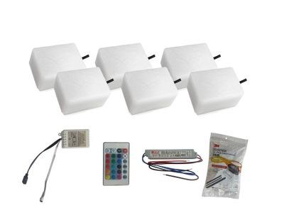 Záhradné svietidlo nájazdové - 6x žiarivý kábel LED 9X12 Nostalit RGB