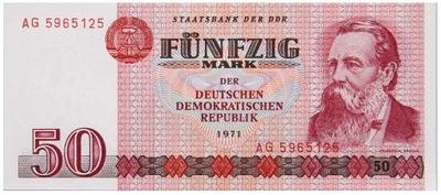 Niemcy - DDR - BANKNOT - 50 Marek 1971 - ENGELS