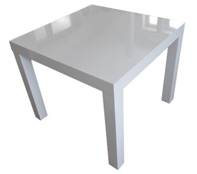стол Белый блеск 90x90+2x50 или 80x80 Размеры