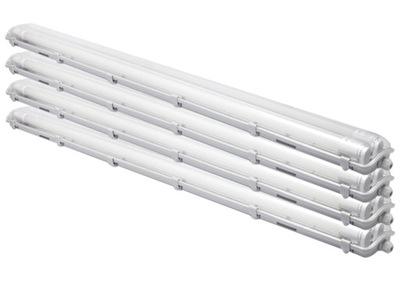 4x светильник герметичный 120 + 8x люминесцентная лампа LED
