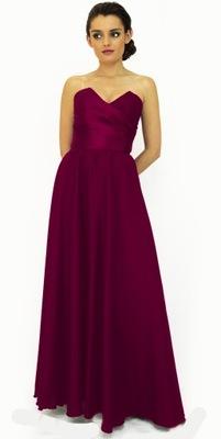 56b7440429 Sukienka wieczorowa Maxi r 36 - 7687428904 - oficjalne archiwum allegro