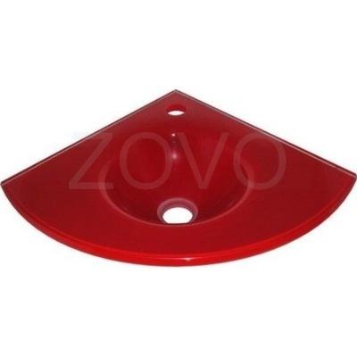 K120R Červené rohové umývadlo 35x35cm ZOVO