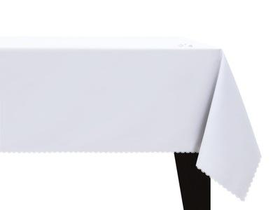 СКАТЕРТЬ пятноотталкивающий гладкий МАТОВЫЙ 140x240 Белый