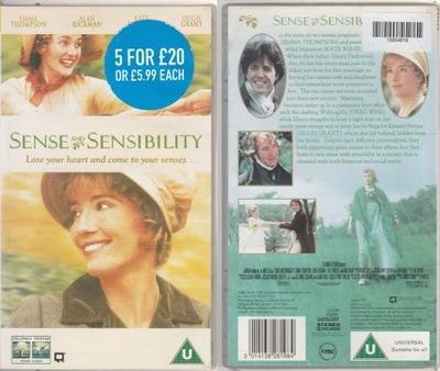SENSE AND SENSIBILITY - kaseta VHS