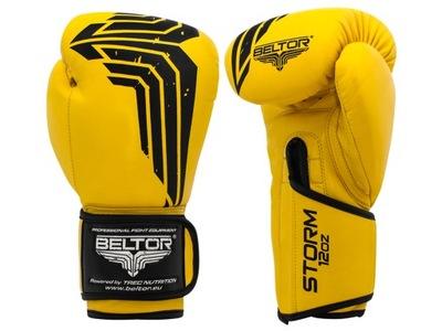 BELTOR BÚRKA Žltá Boxerské Rukavice 14 oz