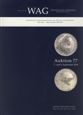 ВЕСОВ. AUKTION 77 (7 -8 .08.2016). Монеты И МЕДАЛИ