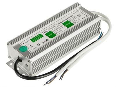 Napájací adaptér pre LED pásy svetla nepremokavé 12V 8,3 A 100W