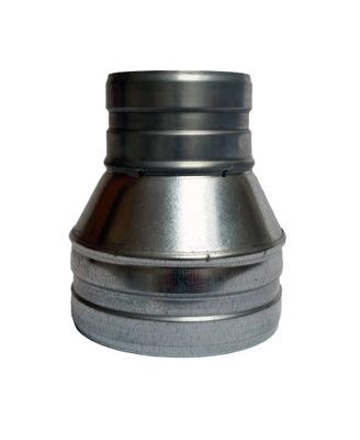 Zníženie 250/110 hadice potrubia spiro kapucňou, kapucňa