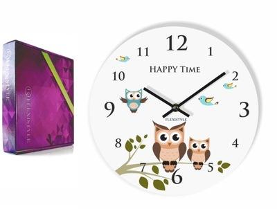 Detské hodiny, budík - Nástěnné hodiny pre deti SOWA SOWY sú tiché