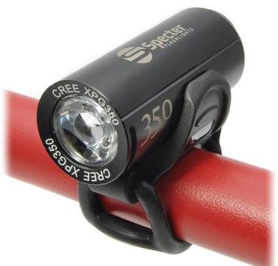 Przednia lampka ROWEROWA LED XPG350 latarka USB